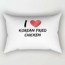 I Love Korean Fried Chicken Rectangular Pillow