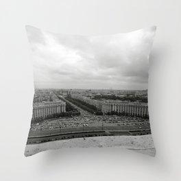 Bird's Eye View of Bucharest, Romania Throw Pillow
