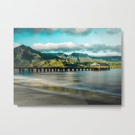 Sunrise at Hanalei Metal Print