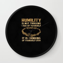 Religious Holiday Christian God Congregation Humility Wall Clock
