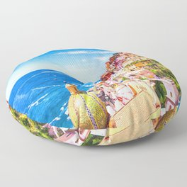Colorful Positano Italy Floor Pillow