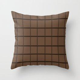 chocolate texture Throw Pillow