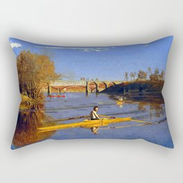 Thomas Eakins Max Schmitt in a Single Scull Rectangular Pillow