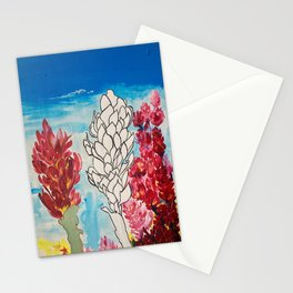 Alpinia purpurata – Red Ginger Flower Stationery Cards