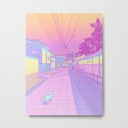 Kyoto Cats Metal Print