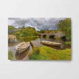 Padarn Lake Bridge Llanberis Metal Print