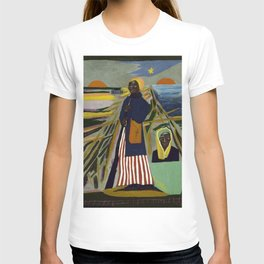 African American Masterpiece 'Experience America Harriet Tubman' by William Johnson T-shirt