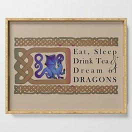 Eat, Sleep, Tea & Dragons Serving Tray