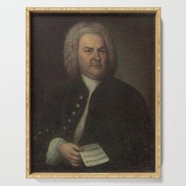 Elias Gottlob Haussmann - Portrait of Bach Serving Tray