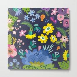 Poster Background | Spring Floral Pattern Metal Print