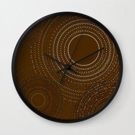 Brown Gold Multi Mandala Wall Clock