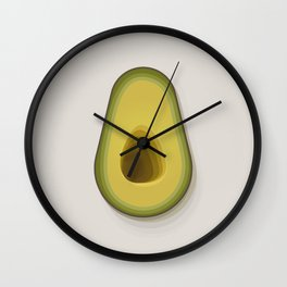'The Avocado' - Fresh Vegetable Study Wall Clock