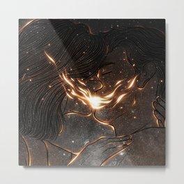 Fire kiss. Metal Print