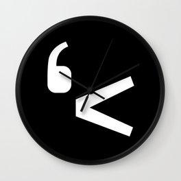 emotikwack black Wall Clock