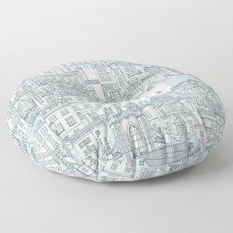 Bath toile pine mint Floor Pillow