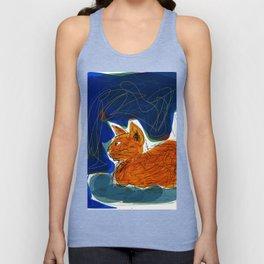 Socca Ginger Cat Art Unisex Tank Top