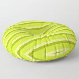 Lime Green Stripes Floor Pillow