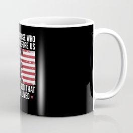 Fallen Soldiers USA Flag American Memorial Day Coffee Mug