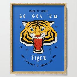 Go Get 'Em Tiger Serving Tray