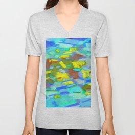 Abstraction of light Unisex V-Neck