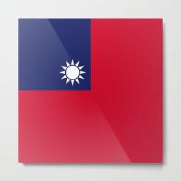 Taiwan flag emblem Metal Print