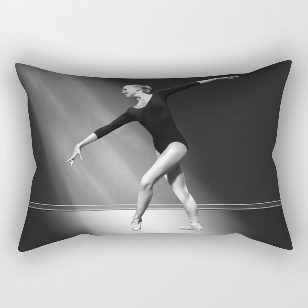 Grace In Black And White Rectangular Pillow RPW770762
