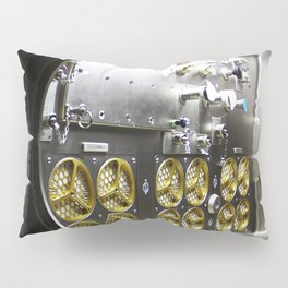 Interior lights give the Microgravity Science Glovebox (MSG) the appearance of a high-tech juke box Pillow Sham