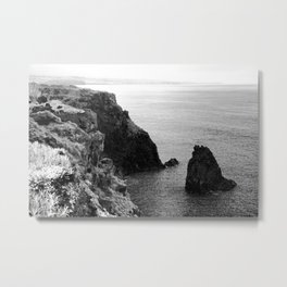 Seascape with monolith Metal Print