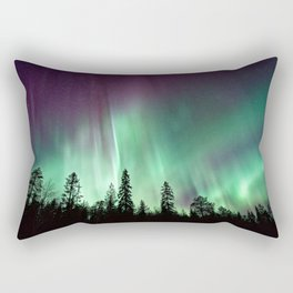 Colorful Northern Lights, Aurora Borealis Rectangular Pillow