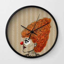 Clownings Wall Clock