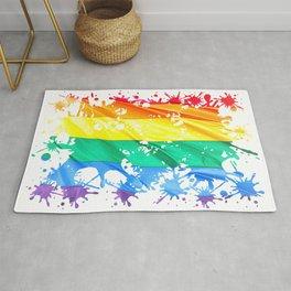 LGBTQ Splatter Rug