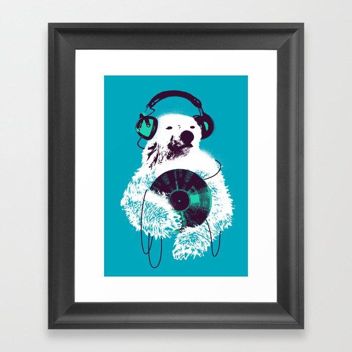 Record Bear Gerahmter Kunstdruck