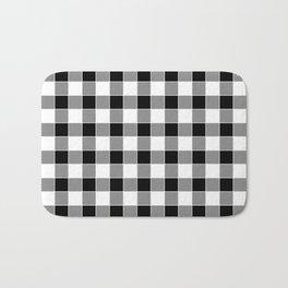 Buffalo Check - black / white Bath Mat