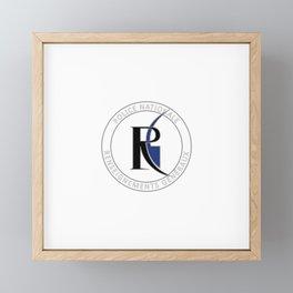 Seal of Renseignements généraux or RG Framed Mini Art Print