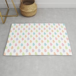 colorful clouds pattern Rug