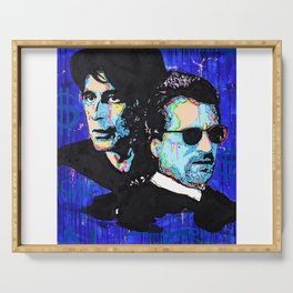 Robert Anthony De Niro - Alfredo James Pacino - Heat - Society6 Online Shops - Pop Art Serving Tray