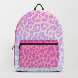 Modern girly pink lavender ombre animal print Backpack