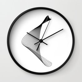"""Linear Collection"" - Minimal Letter C Print Wall Clock"