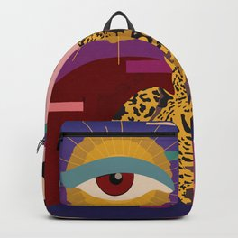 The Big Eye Leopard abstract Backpack