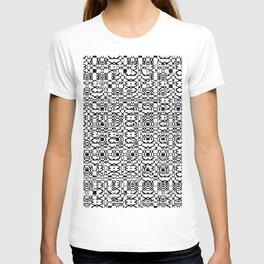 Black and White Mesh T-shirt