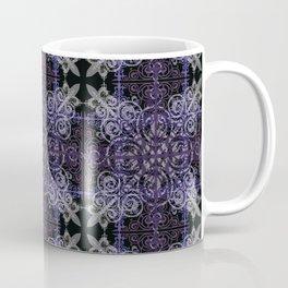 Floral07 Purple Black2 Coffee Mug