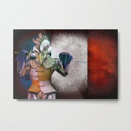Frensh rooster Metal Print