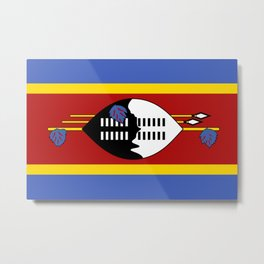 Flag of Eswatini - Swaziland Flag Metal Print