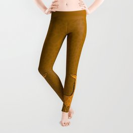 Giraffe - Sepia Brown Leggings