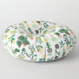 Houseplants pattern 1 Floor Pillow