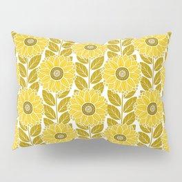 Sunflower Garden in Yellow Gold Pillow Sham