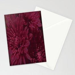 Burgundy Chrysanthemums Stationery Cards