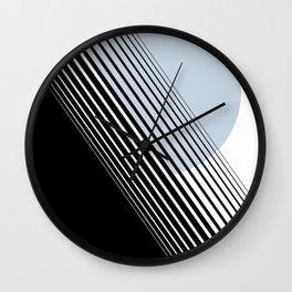 Rising Sun Minimal Japanese Abstract White Black Blue Wall Clock