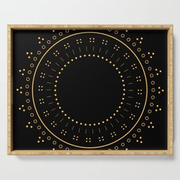 Golden Circle Serving Tray