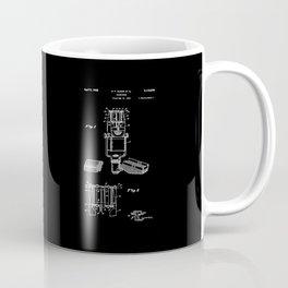 Microphone Patent - White on Black Coffee Mug